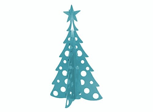 large christmas tree 3d slide together tabletop centerpiece christmas decoration wintertime teal - Giant Christmas Tree