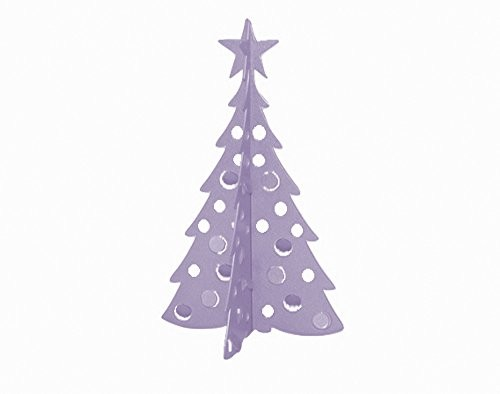 small christmas tree 3d slide together tabletop centerpiece christmas decoration frosty lavender - Small Purple Christmas Tree